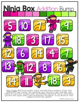 FREE Ninja Bump Math Games (Addition and Multiplication)