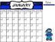 FREE Ninja Themed Calendar
