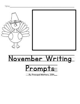 FREE November Writing Prompts for Kindergarten