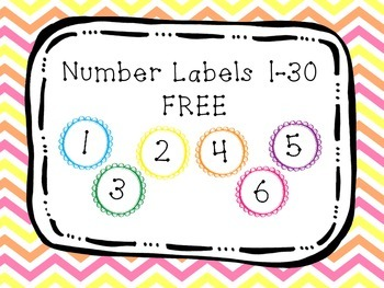 FREE Number Labels