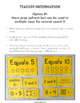 Number Sense Sort Math Center: Composing & Decomposing Com