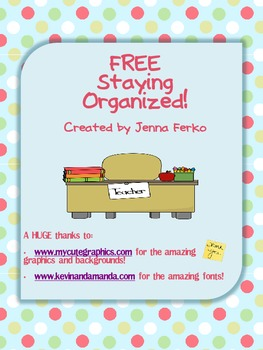FREE - Organize Your Files - 2 Great Ideas With Fun and Cu