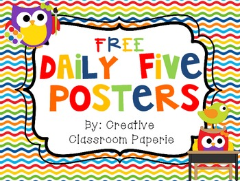 FREE Owl Daily 5 Posters