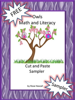 FREE Owls Cut and Paste Sampler