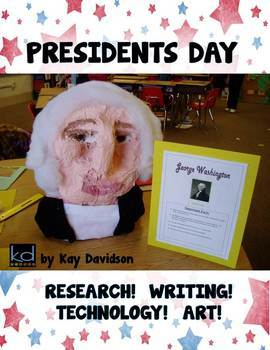PRESIDENTS DAY Research Writing Technology Art Project