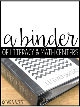 FREE PREVIEW! A Binder of Literacy and Math Centers
