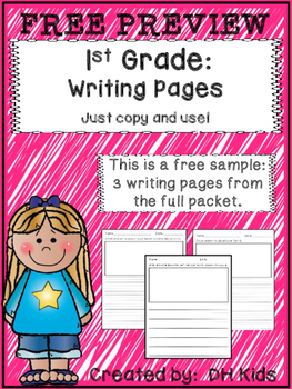 FREE PREVIEW: Writing Pages for 1st Grade