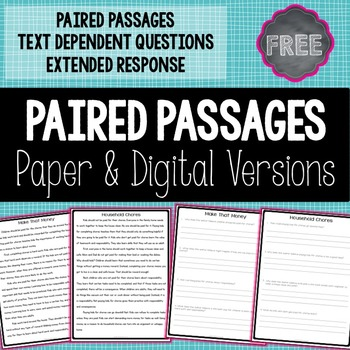 paired passages grade 6 pdf