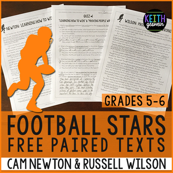 FREE Football Paired Texts: Cam Newton & Russell Wilson: N
