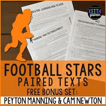 FREE Football Paired Texts: Peyton Manning & Cam Newton: N