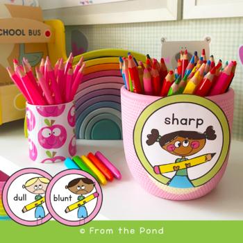 FREE Pencil Tub Labels