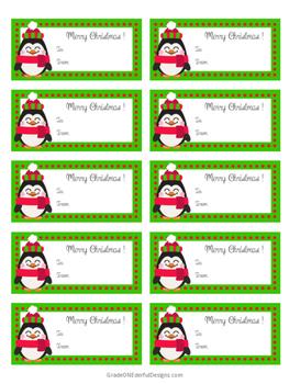FREE Penguin Christmas Tags