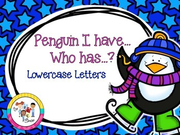 FREE! Penguin I have...Who has...? Lowercase Letters