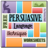 FREE Persuasive Language Worksheets