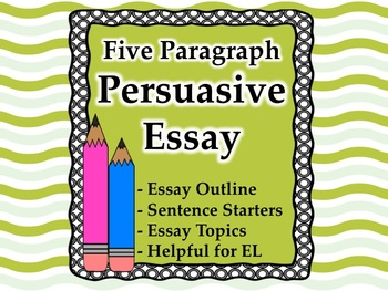 Persuasive essay with included EL support