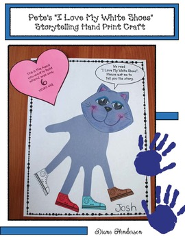 FREE Pete The Cat's Hand Print Craftivity