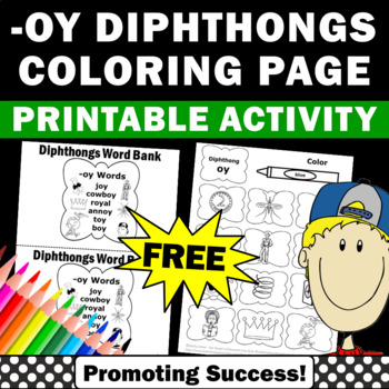 free diphthongs worksheet