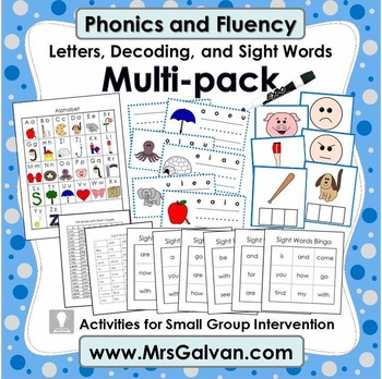 FREE Phonics and Fluency Multi-pack Letters, Decoding, and