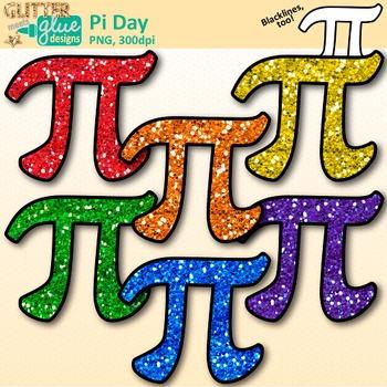 Pi Day Clip Art {Area and Circumference Symbol Graphics fo