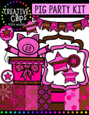 Pig Party Kit {Creative Clips Digital Clipart}