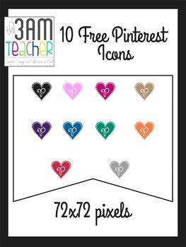 FREE Pinterest Icons: Heart Shaped Clip Art