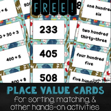 FREE Place Value Cards for sorting, matching, and other ba