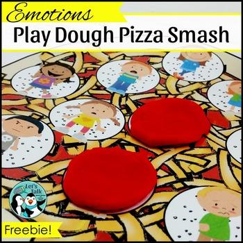 {FREE} Play Dough Pizza Smash - Emotions
