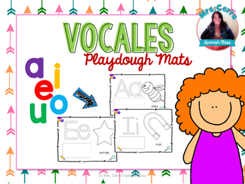 FREE Playdough Mats {vocales} SPANISH ONLY