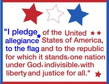 FREE- Pledge of Allegiance Poster