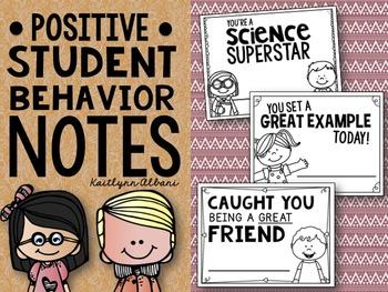 FREE - Positive Student Behavior Notes