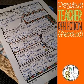 {FREE} Positive Teacher Reflection Printable