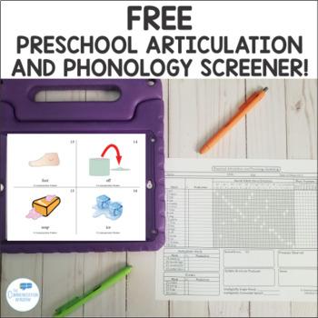 FREE Preschool Articulation and Phonology Screening Kit