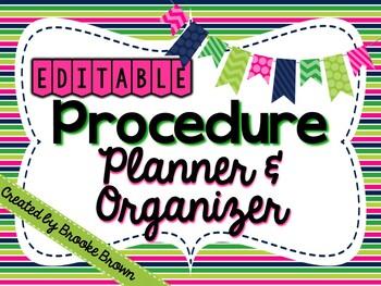 FREE Procedure Planner & Organizer {EDITABLE!}