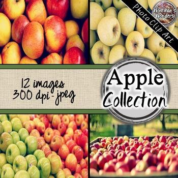 Photo Clip Art (12 Images/4 Sizes) - Apples