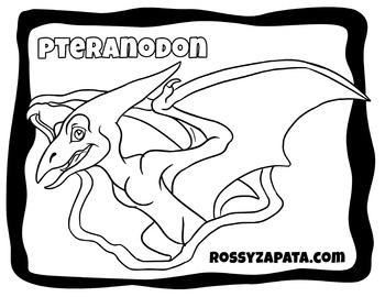 FREE Pteranodon prehistoric coloring page