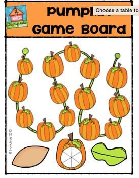 FREE Pumpkin Game Board {P4 Clips Trioriginals Digital Clip Art}