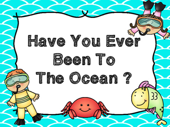 FREE Question Of The Day -Whole Class Graph (Ocean)