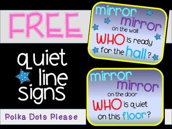 FREE Quiet Line Signs