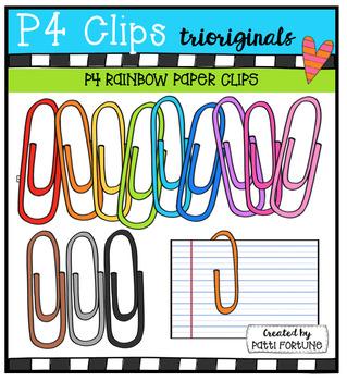 FREE  RAINBOW Paper Clips {P4 Clips Triorignals Digital Clipart}
