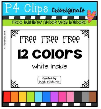 FREE  RAINBOW Spider Web Borders  {P4 Clips Triorignals}