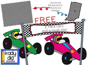 FREE Race Car Clipart - by Kady Did Doodles