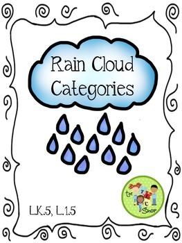 FREE! Rain Cloud Categories