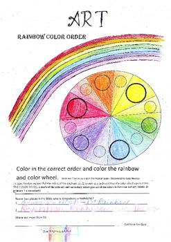 FREE Rainbow Color & Color Wheel Art Lesson