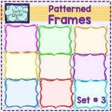 FREE - Rainbow patterned frames - borders {set # 3} - Teac