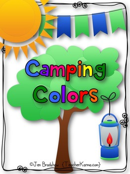 FREE Reader:  The Colors of Camping Book ~ Predictable Pat
