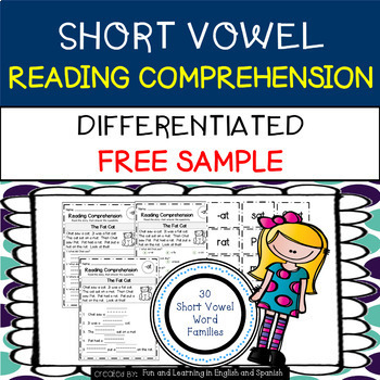 FREE - Reading Comprehension Stories & Questions:Short Vow