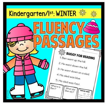 Winter Fluency Passages Kindergarten First Grade Sentence