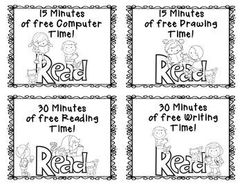 FREE Reading Reward Tickets!