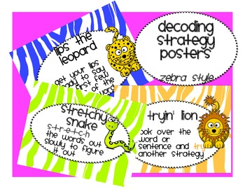 FREE Reading Strategy Jungle Posters