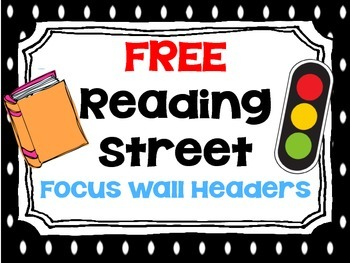 FREE Reading Street Focus Wall Headers (Polka Dot)
